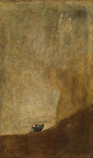 Francisco Goya, The Dog / Pies (photo source: Wikipedia)