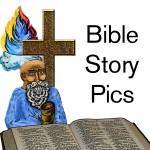 Bible Story Pics Zazzle store button. Click to visit and shop.