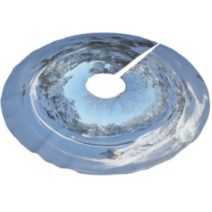 Click through to purchase Drifts and Shadows Wraparound Christmas Snow Scene Brushed Polyester Tree Skirt