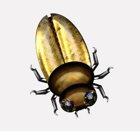 beautiful bugs: metallic gold beetle design