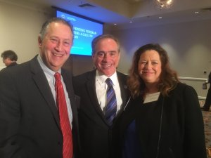 FAH Founder and President Dr. Jeremy Nobel, Under Secretary of Health Dr. David J. Shulkin, and Marete Wester, Senior Director of Arts Policy at AFTA