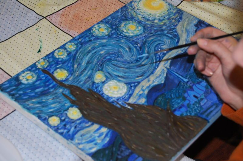 Curs de pictură în culori acrilice