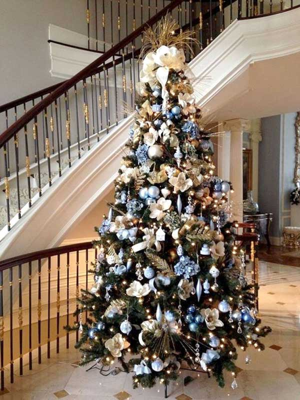 Silver & Blue Christmas Tree