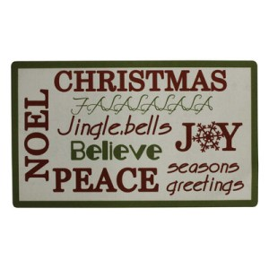 Attraction Design Home | Christmas Trimmed Doormat