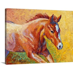 Sorrel Filly by Marion Rose Art Print on Canvas