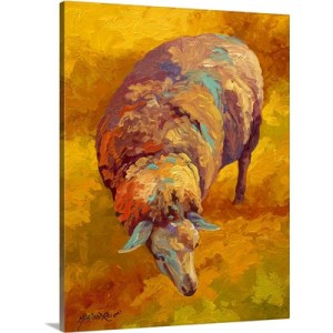 Sheep by Marion Rose Art Print on Canvas