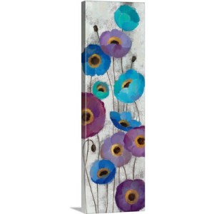 Bold Anemones Panel II by Silvia Vassileva Art Print on Canvas