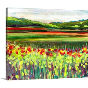 Wildflower Meadow by Jennifer Lommers Art Print on Canvas