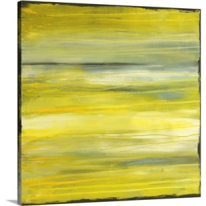 Yellow Dawn by Erin Ashley Art Print on Canvas