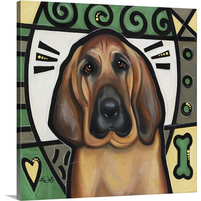 Blood Hound Pop Art by Eric Waugh Painting Print on Canvas