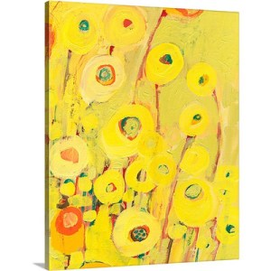 Growing in Yellow by Jennifer Lommers Art Print on Canvas