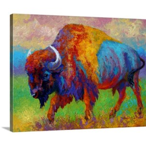 Journey Unknown Bison by Marion Rose Art Print on Canvas