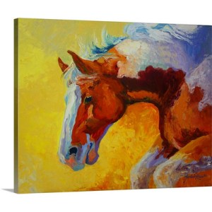 Bronco by Marion Rose Art Print on Canvas
