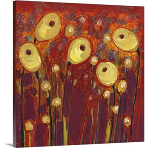 Common Poppies in the Royal Garden by Jennifer Lommers Painting on Canvas