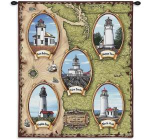 "Lighthouses of the Northwest | 26"" x 32"" 