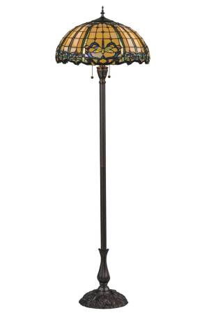 "Dragonfly | Tiffany Art Glass Floor Lamp | 63"" H"