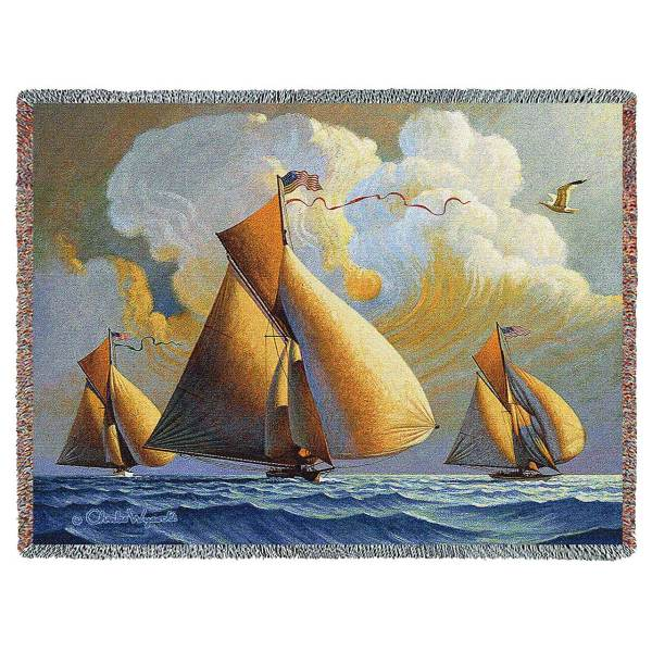 The Searam by Charles Wysocki | Throw Blanket | 70 x 54