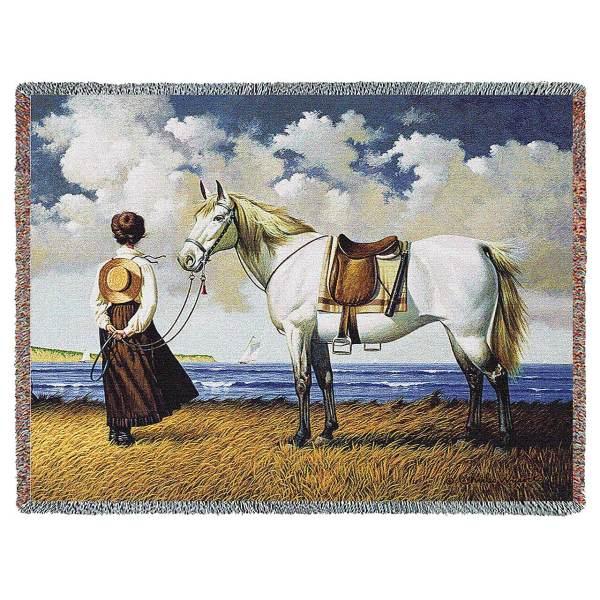Sea Captains Wife by Charles Wysocki | Throw Blanket | 70 x 54