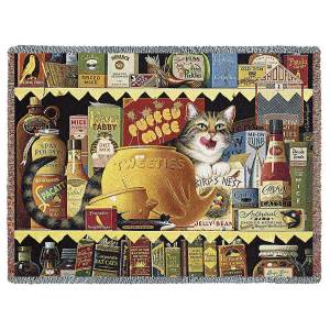 Ethel the Gourmet by Charles Wysocki   Throw Blanket   70 x 54