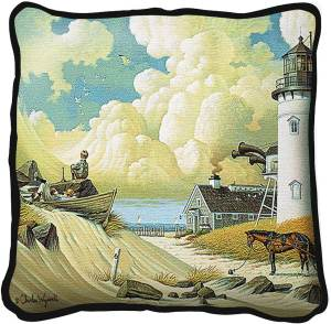 Dreamers by Charles Wysocki | Throw Pillow | 17 x 17