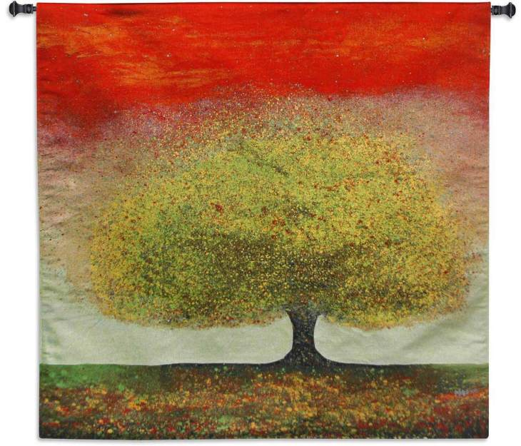 Dreaming Tree Red by Melissa Graves Brown | Art Tapestry