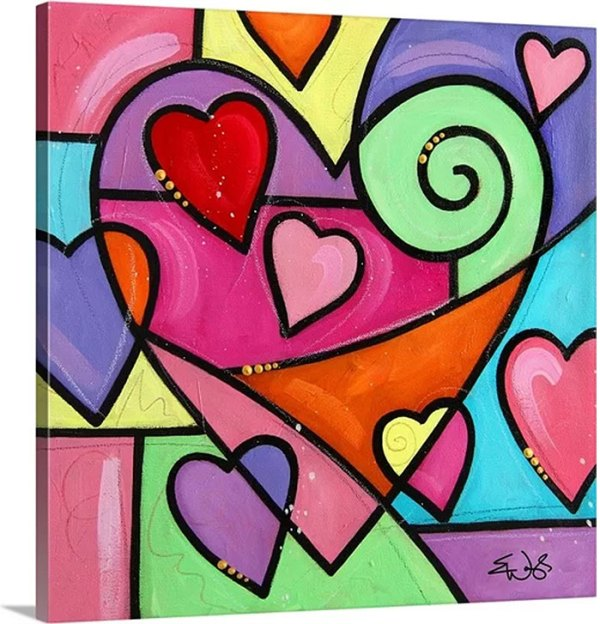 Colourful Love I by Eric Waugh Art Print on Canvas