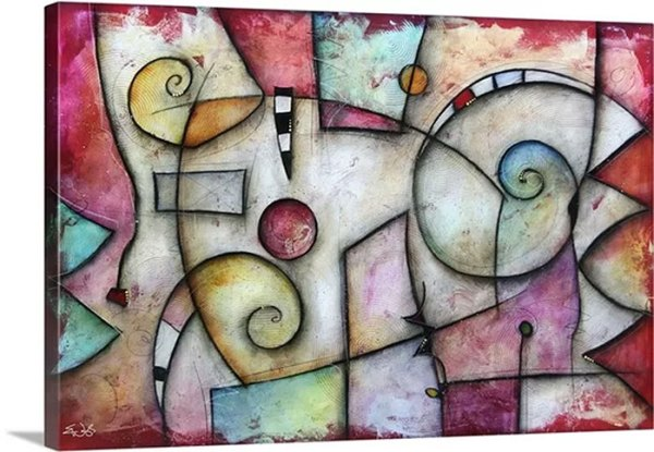 Jive by Eric Waugh Painting Print on Canvas