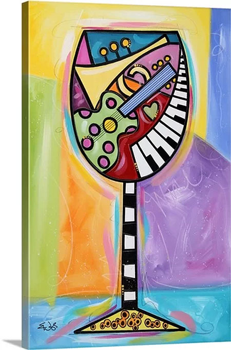Raise Your Spirits, Wine by Eric Waugh Painting Print on Canvas