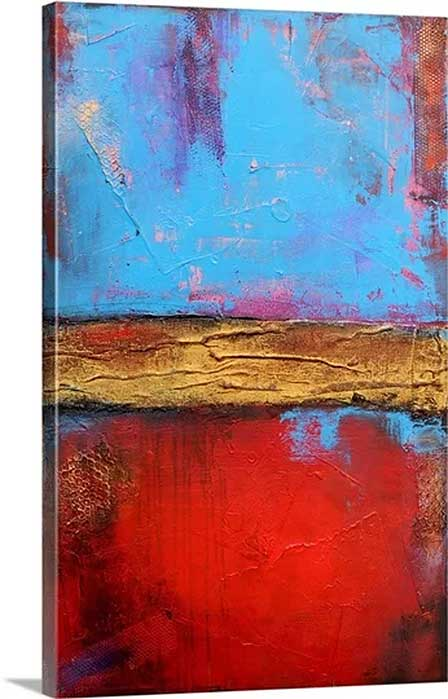 Hill Street Blues by Erin Ashley Art Print on Canvas