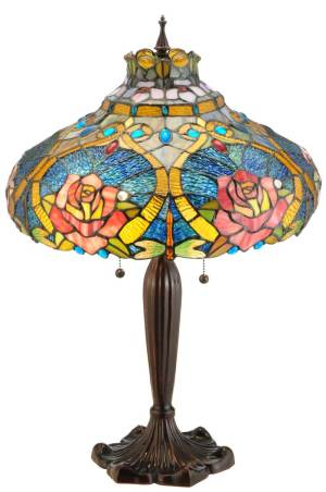 "26"" H Dragonfly Rose Table Lamp"