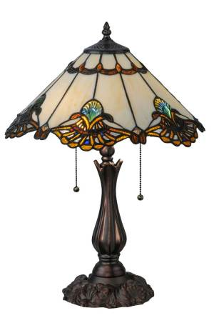 "21"" H Shell With Jewels Table Lamp"