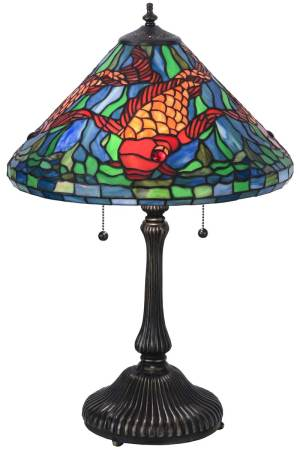 "24.5"" H Tiffany Koi Table Lamp"