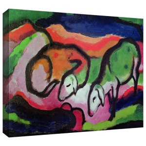 Sheep by Franz Marc Painting Print on Canvas