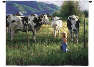 "Anniken and the Cows | 34"" x 26"" 