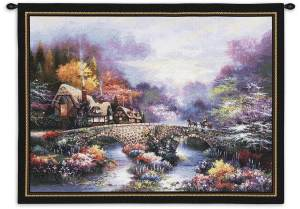 """Going Home   34"""" x 26""""   Woven Tapestry Hanging"""