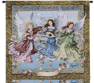 Angelic Trio | 26 x 34 | Woven Tapestry Hanging