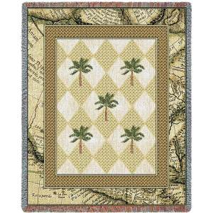 Colonial Palms | Woven Throw Blanket