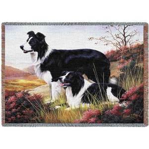 "Border Collie | Tapestry Blanket | 70"" x 54"""