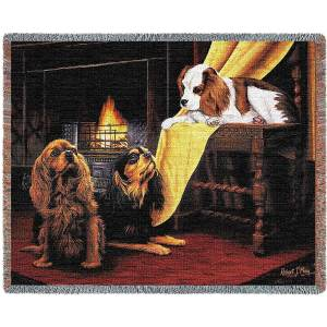 "Cavalier King Charles Spaniels | Tapestry Blanket | 54"" x 70"""