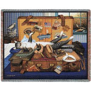 Charles Wysocki | Mabel The Stowaway | Cotton Cotton Throw Blanket | 70 x 54