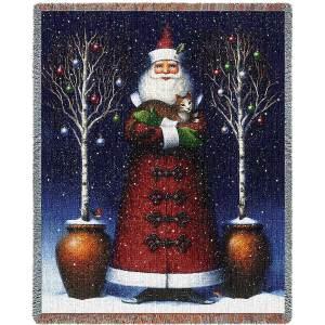 Kitty Santa | Christmas Seasonal Throw Blanket