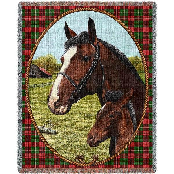 Cheval (Horses) | Tapestry Blanket | 54 x 70