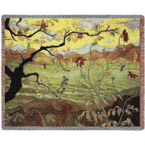 "Apple Tree With Red Fruit | Tapestry Blanket | 70"" x 54"""