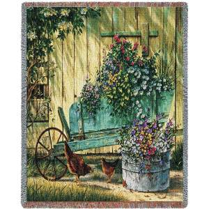 Spring Social Tapestry Country   Tapestry Blanket   70 x 54