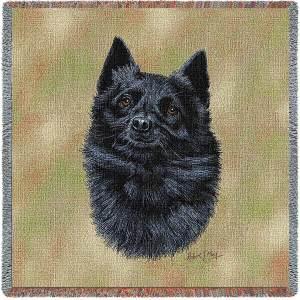Schipperke Breed Portrait | Throw Blanket | 54 x 54
