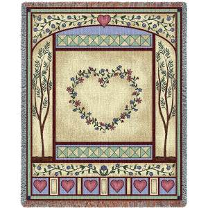Love Quilt II   Woven Throw   54 x 70