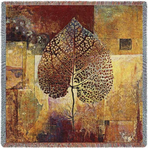 Abstract Autumn | Contemporary Cotton Throw Blanket | 64 x 64