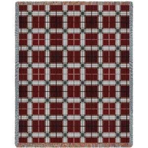 Brickcraft Plaid | Tapestry Blanket | 53 x 70