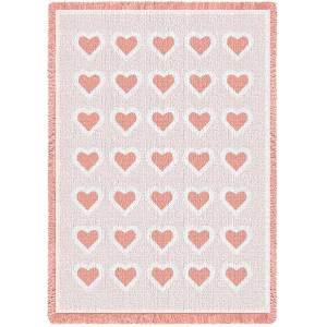 Basketweave Mini Pink | Afghan | 48 x 35