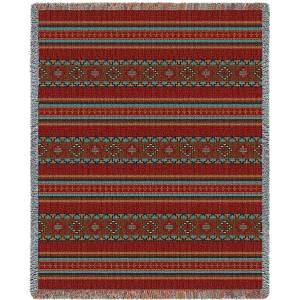 Saddleblanket Red | Woven Blanket
